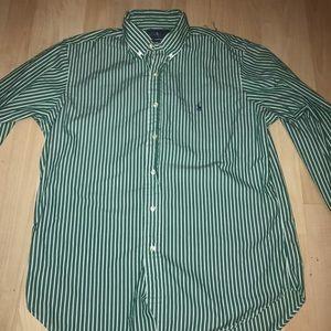Men's polo long sleeve button up size 16  32/33